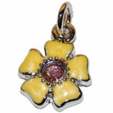 Nail Dangle - Yellow Flower