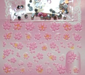 3D Nail Stickers w/ crystals