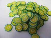 Sliced Fimo Fruit - Lime (500pcs)