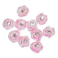 Ceramic Art Flowers with Crystal - Pink