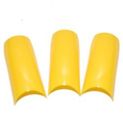 French Yellow Nail Tips - 500 tips